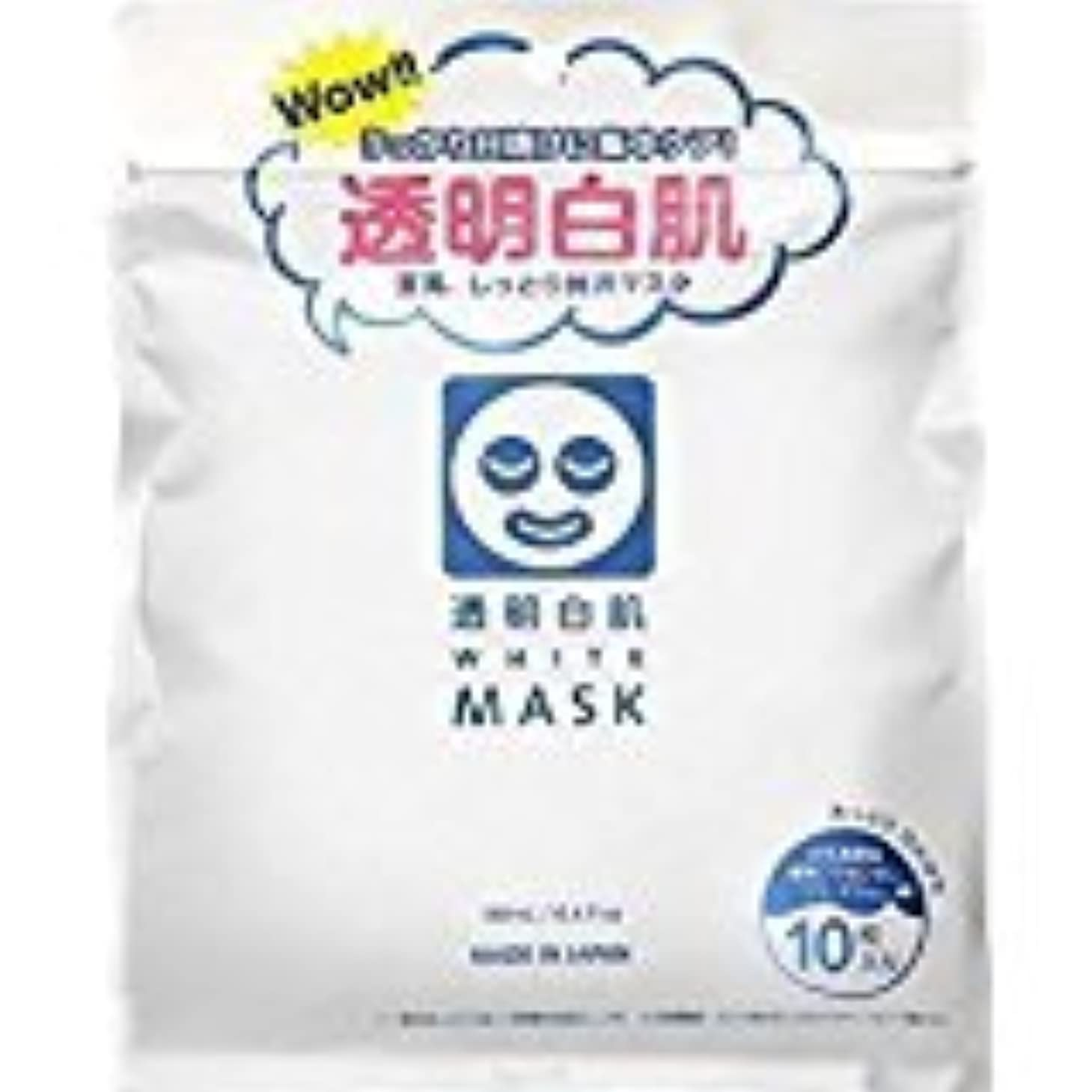 風味冬努力石澤研究所]透明白肌 ホワイトマスク N10枚入 (48枚セット)