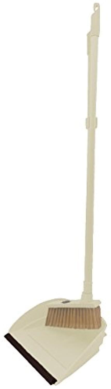 丸和貿易 置物 クリーム サイズ:ブラシ/約18×3.7×87cm、ダストパン/約25.3×23.8×84cm 400830901