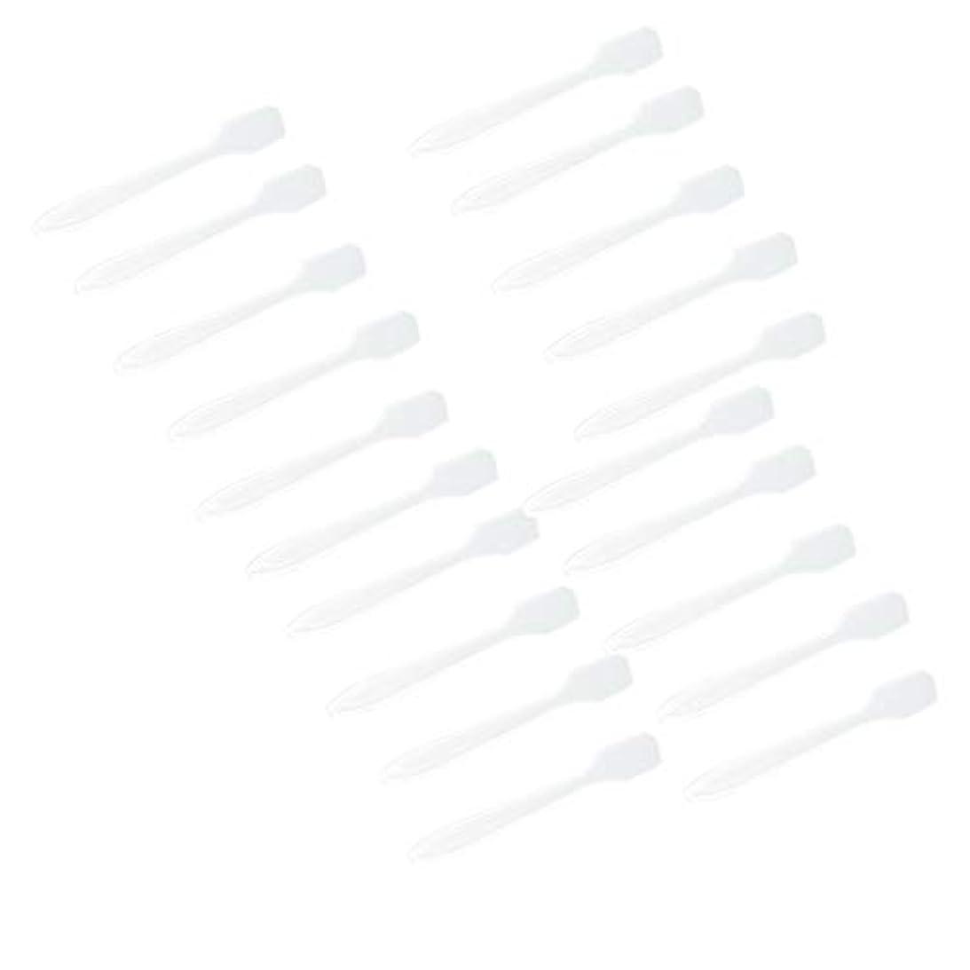 細断いらいらするネックレットP Prettyia 5色 100点 フェイシャル クリーム マスクスプーン 化粧品へら 女性美容ツール - クリア