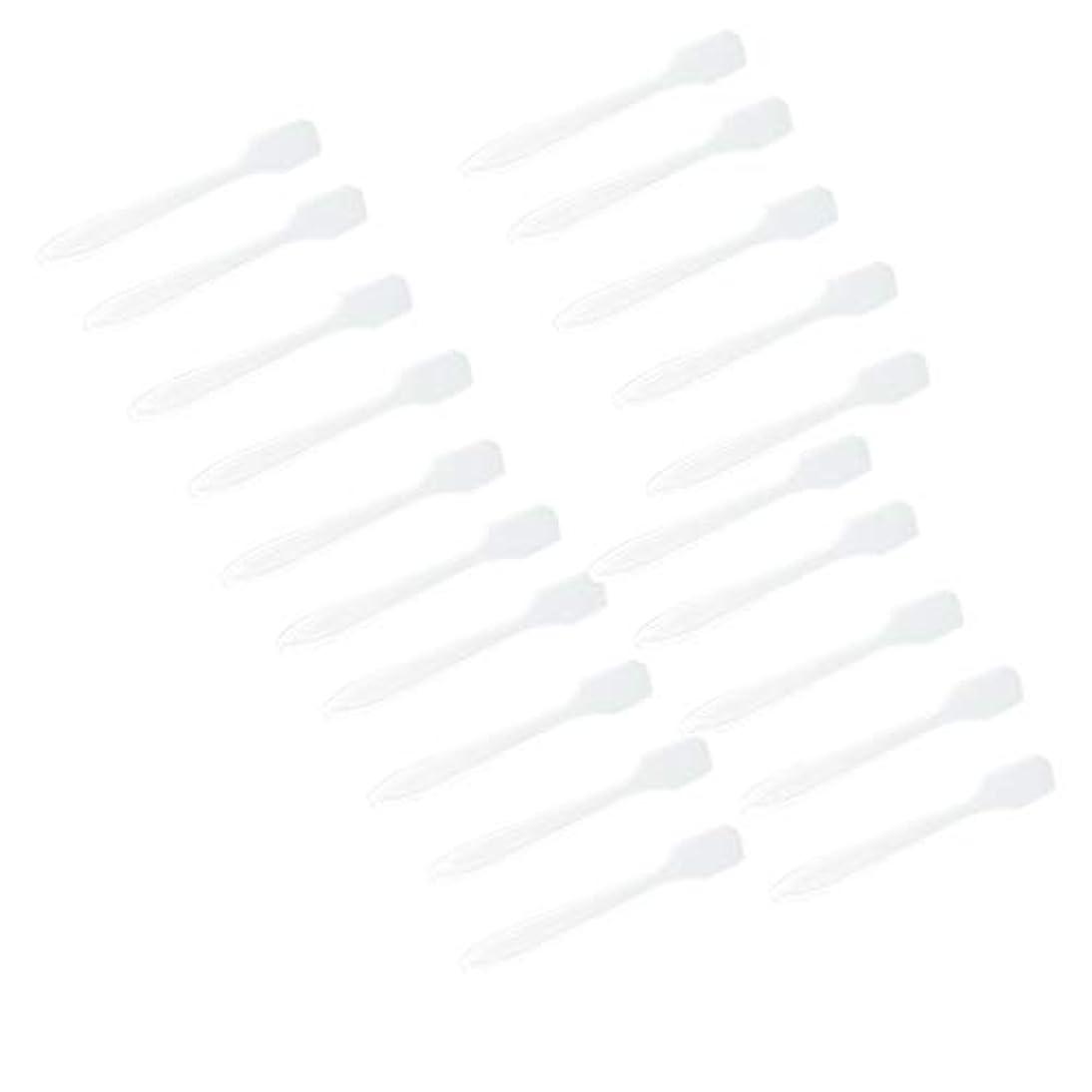 吸収習慣業界5色 100点 フェイシャル クリーム マスクスプーン 化粧品へら 女性美容ツール - クリア
