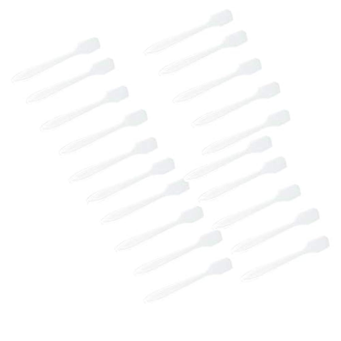これまでガチョウアピールP Prettyia 5色 100点 フェイシャル クリーム マスクスプーン 化粧品へら 女性美容ツール - クリア