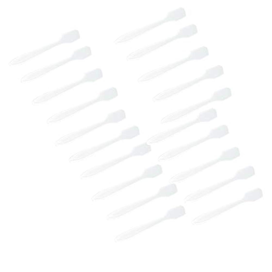 花輪置換居間5色 100点 フェイシャル クリーム マスクスプーン 化粧品へら 女性美容ツール - クリア