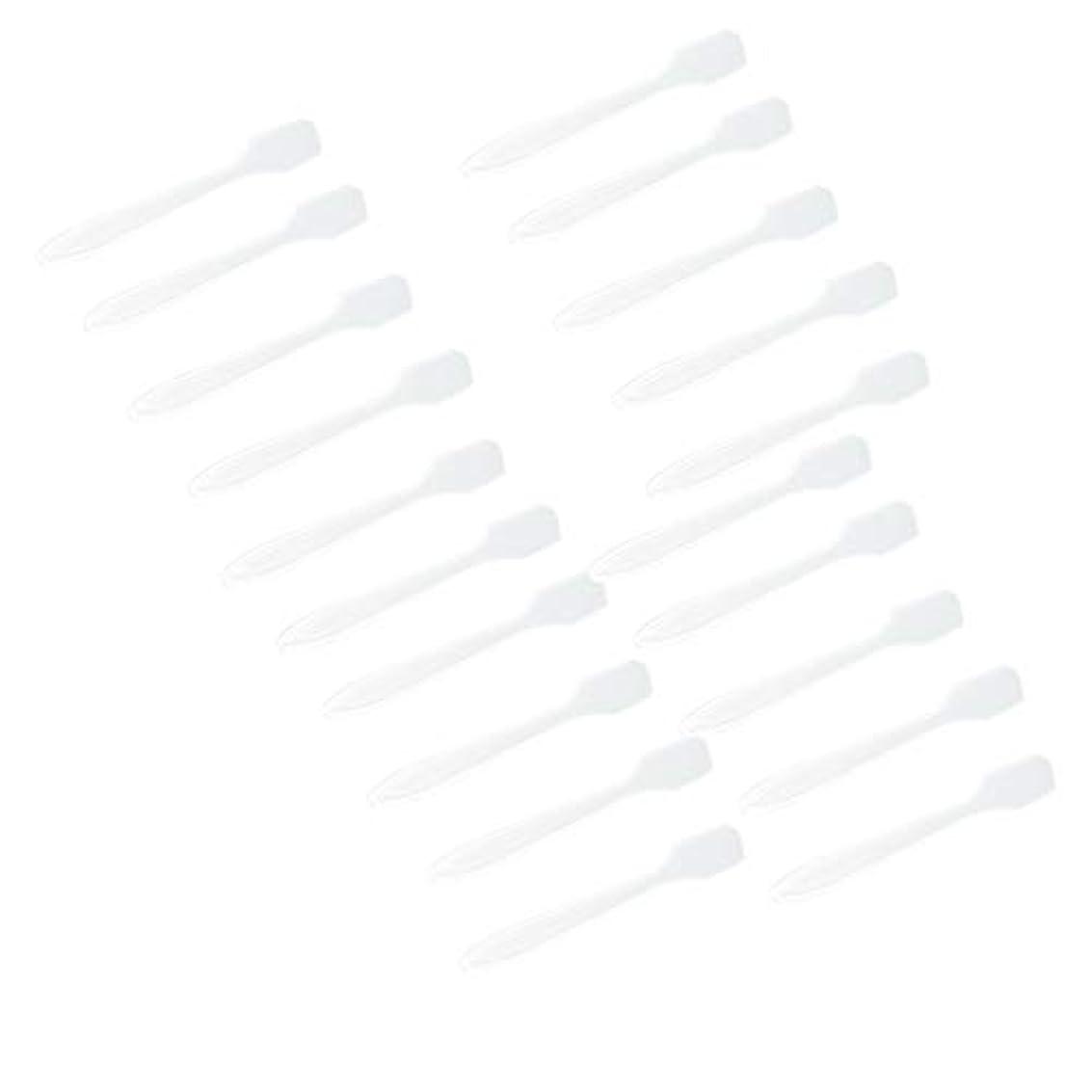 持ってる意志に反するパラメータ100pcs使い捨て化粧品へらミニフェイスマスクスプーン - 簡単ミキシングAppling - クリア