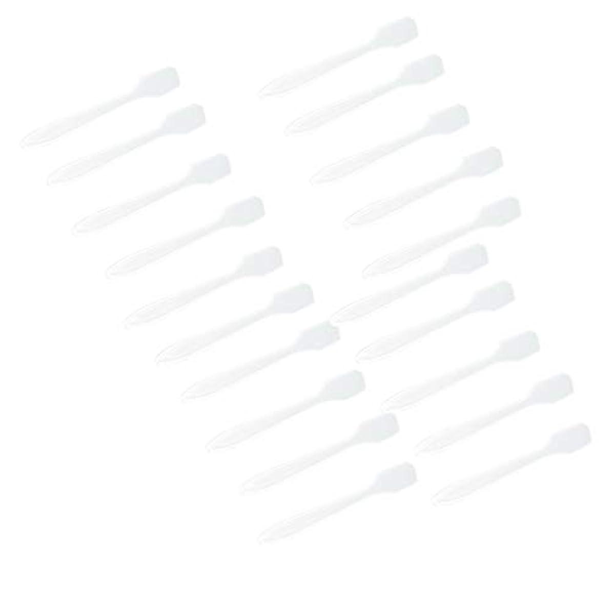 フルーティー物質バルク5色 100点 フェイシャル クリーム マスクスプーン 化粧品へら 女性美容ツール - クリア