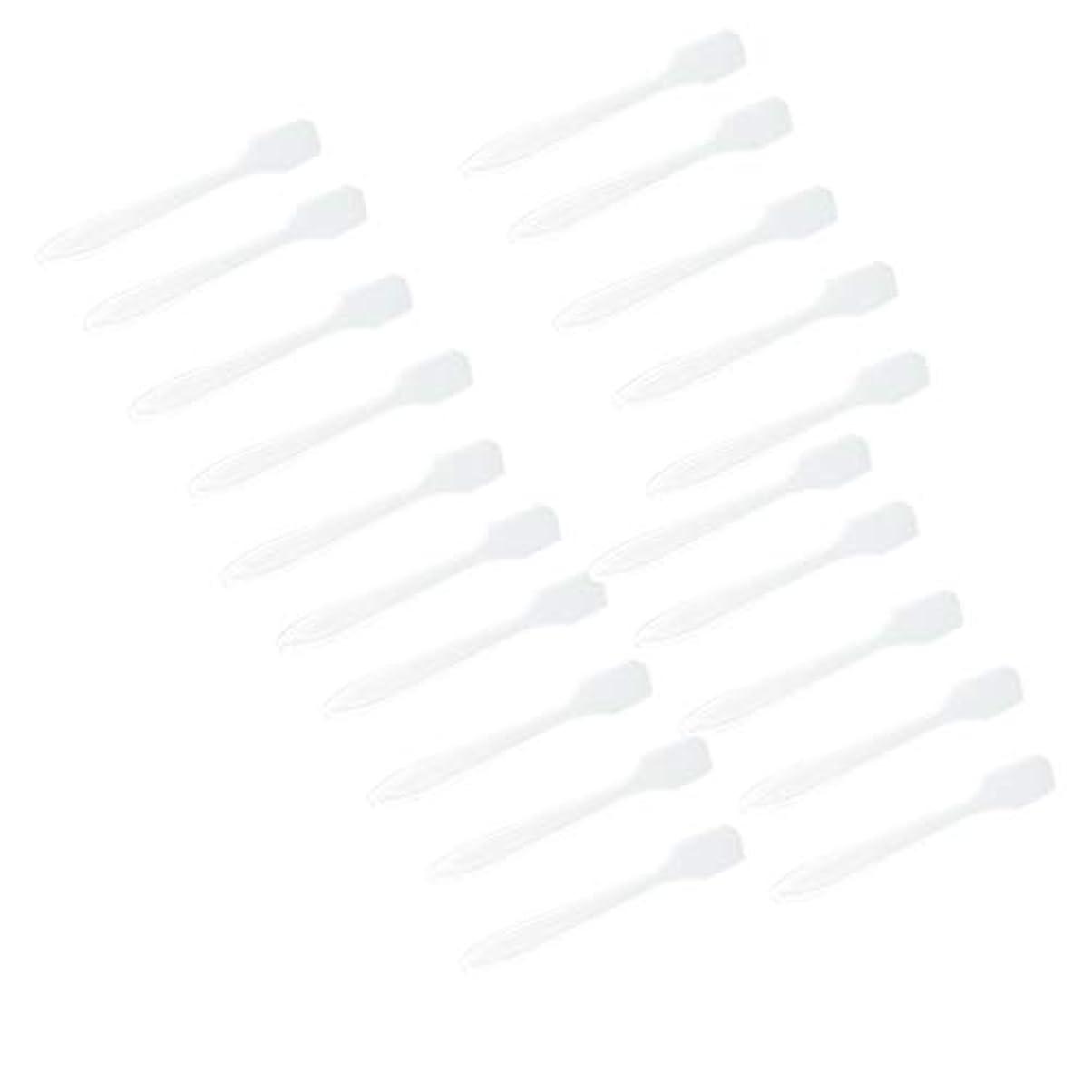 ポールレンジ全く5色 100点 フェイシャル クリーム マスクスプーン 化粧品へら 女性美容ツール - クリア
