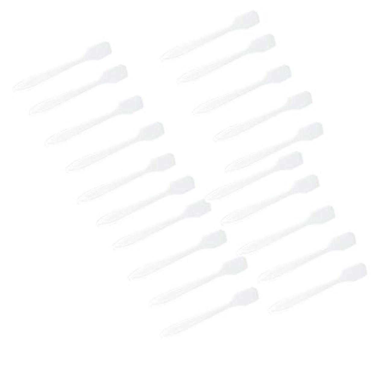 楽しませる捕虜会議P Prettyia 5色 100点 フェイシャル クリーム マスクスプーン 化粧品へら 女性美容ツール - クリア