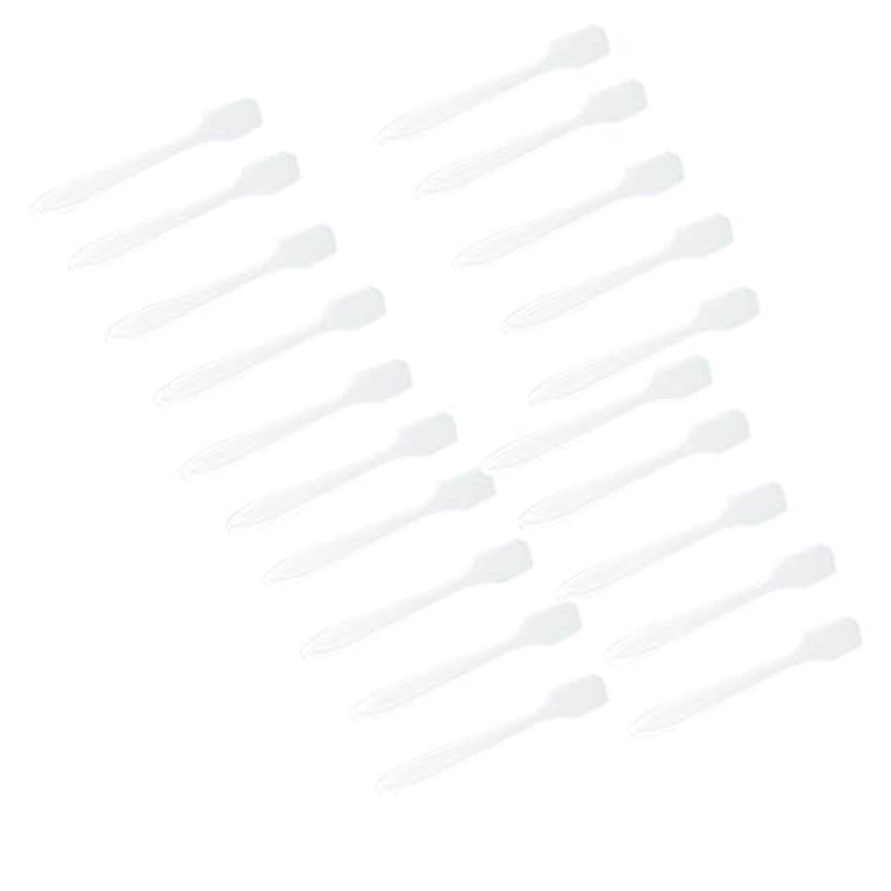 美徳傾向がある慈善P Prettyia 5色 100点 フェイシャル クリーム マスクスプーン 化粧品へら 女性美容ツール - クリア