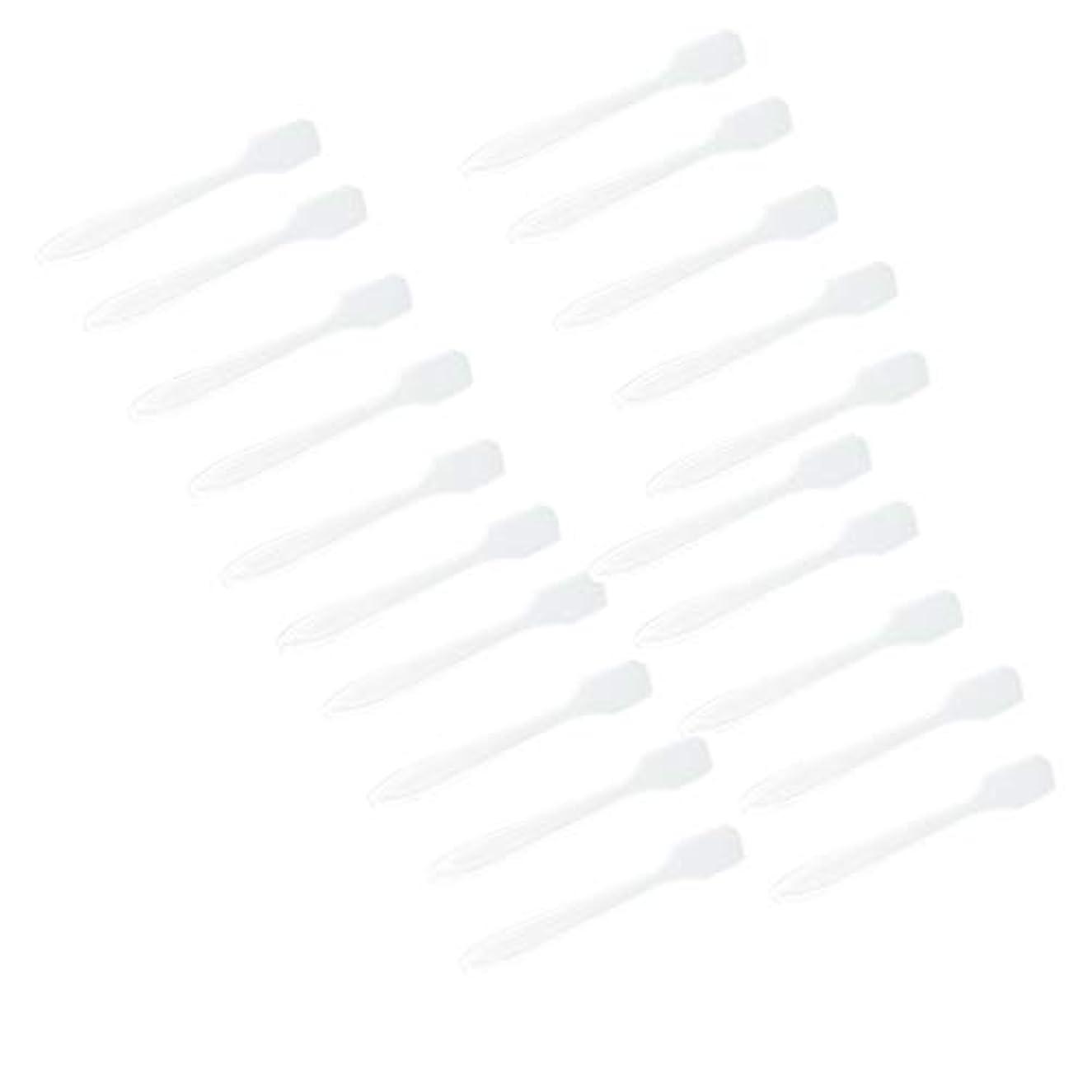 倍率ピクニックをする最大化するP Prettyia 5色 100点 フェイシャル クリーム マスクスプーン 化粧品へら 女性美容ツール - クリア