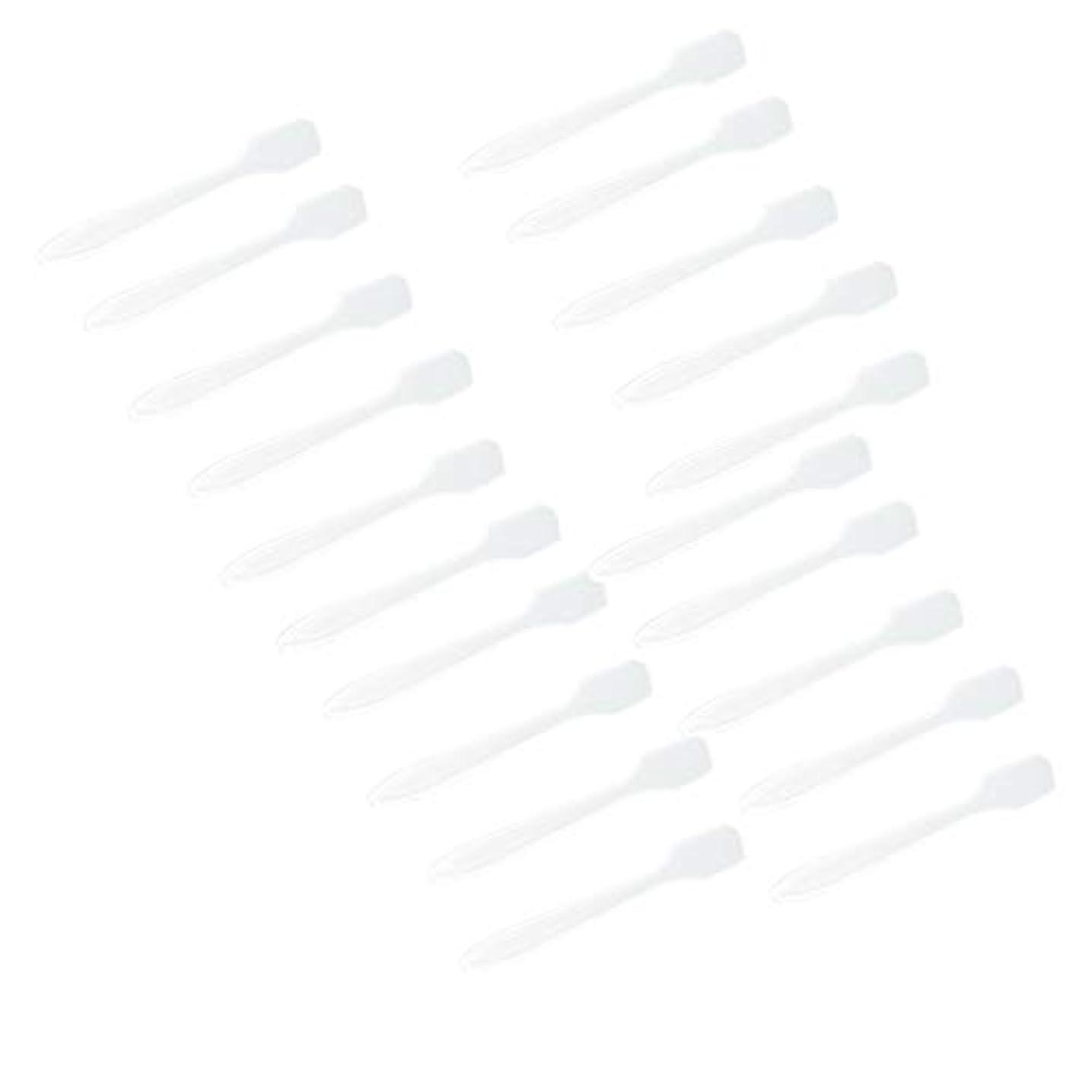 P Prettyia 5色 100点 フェイシャル クリーム マスクスプーン 化粧品へら 女性美容ツール - クリア