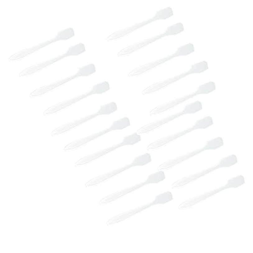 どんなときも科学的ハミングバード5色 100点 フェイシャル クリーム マスクスプーン 化粧品へら 女性美容ツール - クリア