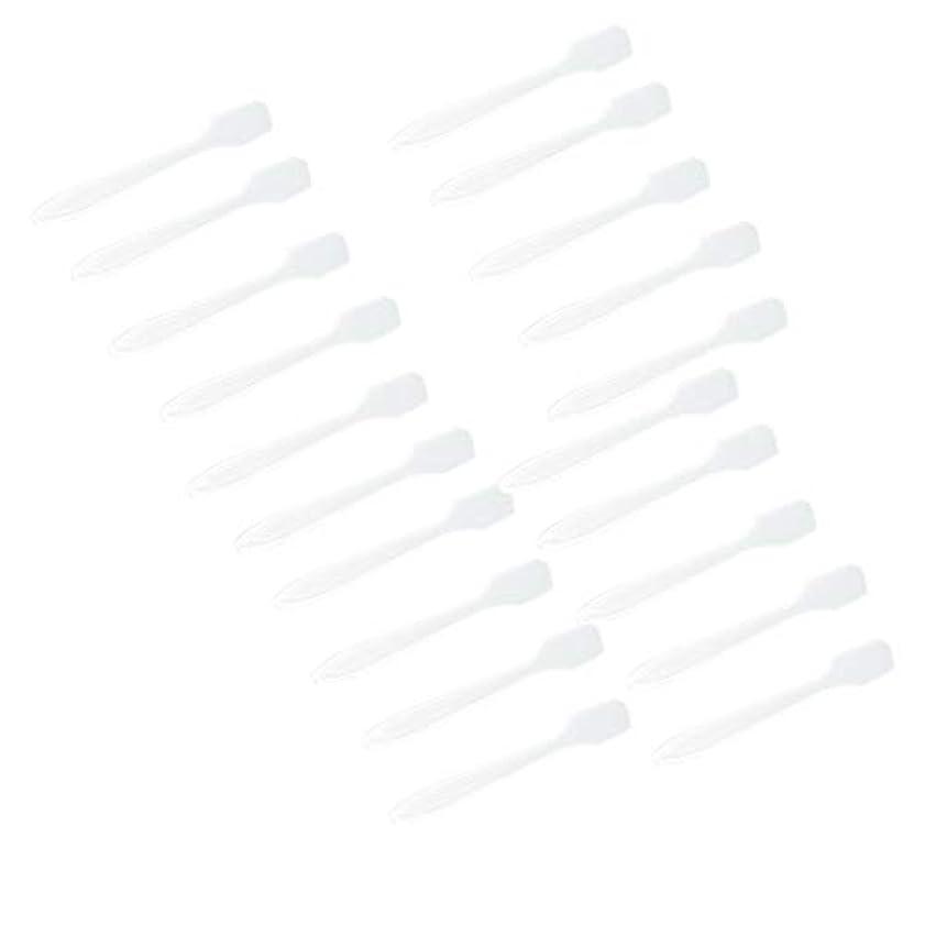 飲み込む部分的に乳白P Prettyia 5色 100点 フェイシャル クリーム マスクスプーン 化粧品へら 女性美容ツール - クリア