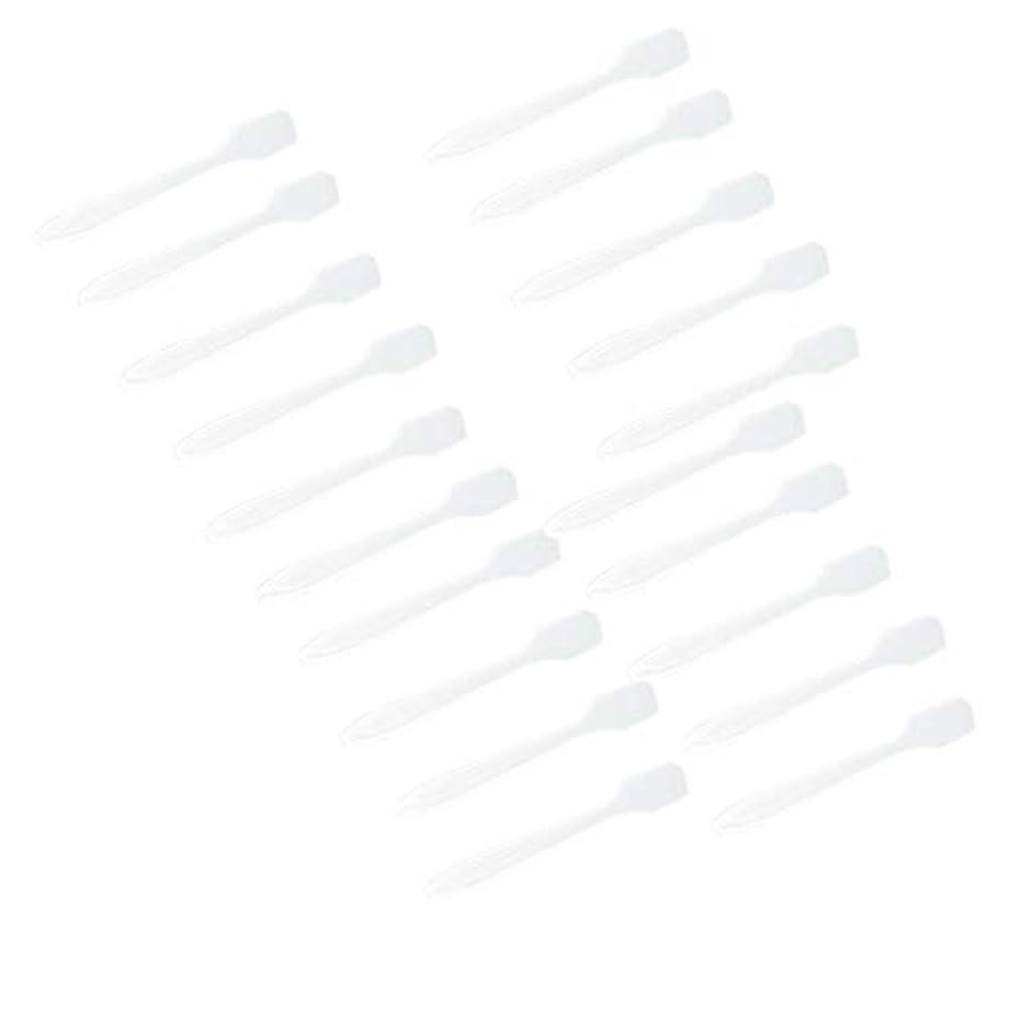 戦艦キリスト急いでP Prettyia 5色 100点 フェイシャル クリーム マスクスプーン 化粧品へら 女性美容ツール - クリア