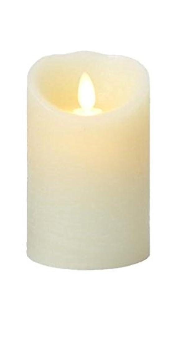 セイはさておきずんぐりした一晩癒しの香りが素敵な間接照明! LUMINARA ルミナラ ピラー3×4 ラスティク B0320-00-10 IV?オーシャンブリーズ
