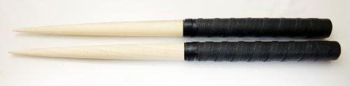 高速ロール 太鼓の達人 朴木 製 マイバチ バチ ホオノキ ロール特化 (マッドブラック)