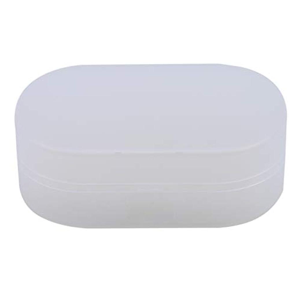 講堂論理的に不名誉ZALINGソープボックスホルダーソープディッシュソープセーバーケースコンテナ用バスルームキャンプホワイト