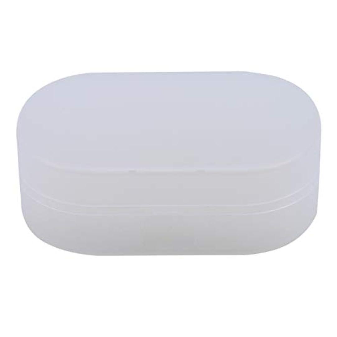 よろめく釈義切るZALINGソープボックスホルダーソープディッシュソープセーバーケースコンテナ用バスルームキャンプホワイト