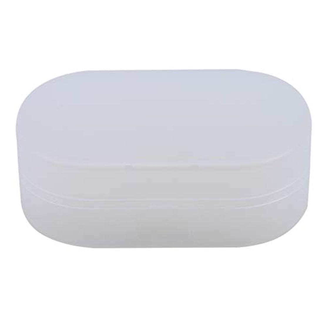 ストリームブレークサンダルZALINGソープボックスホルダーソープディッシュソープセーバーケースコンテナ用バスルームキャンプホワイト