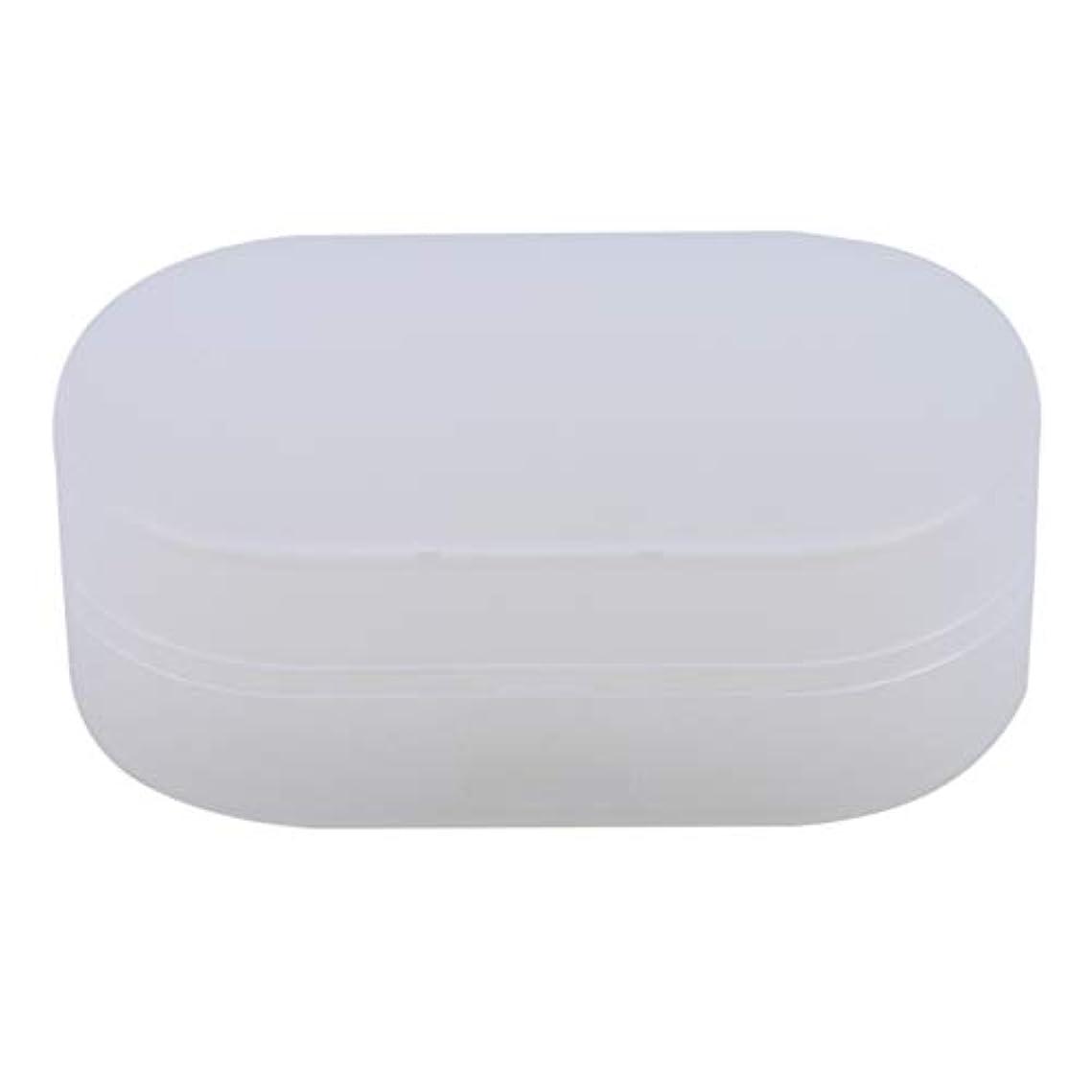 テラス代表幹ZALINGソープボックスホルダーソープディッシュソープセーバーケースコンテナ用バスルームキャンプホワイト