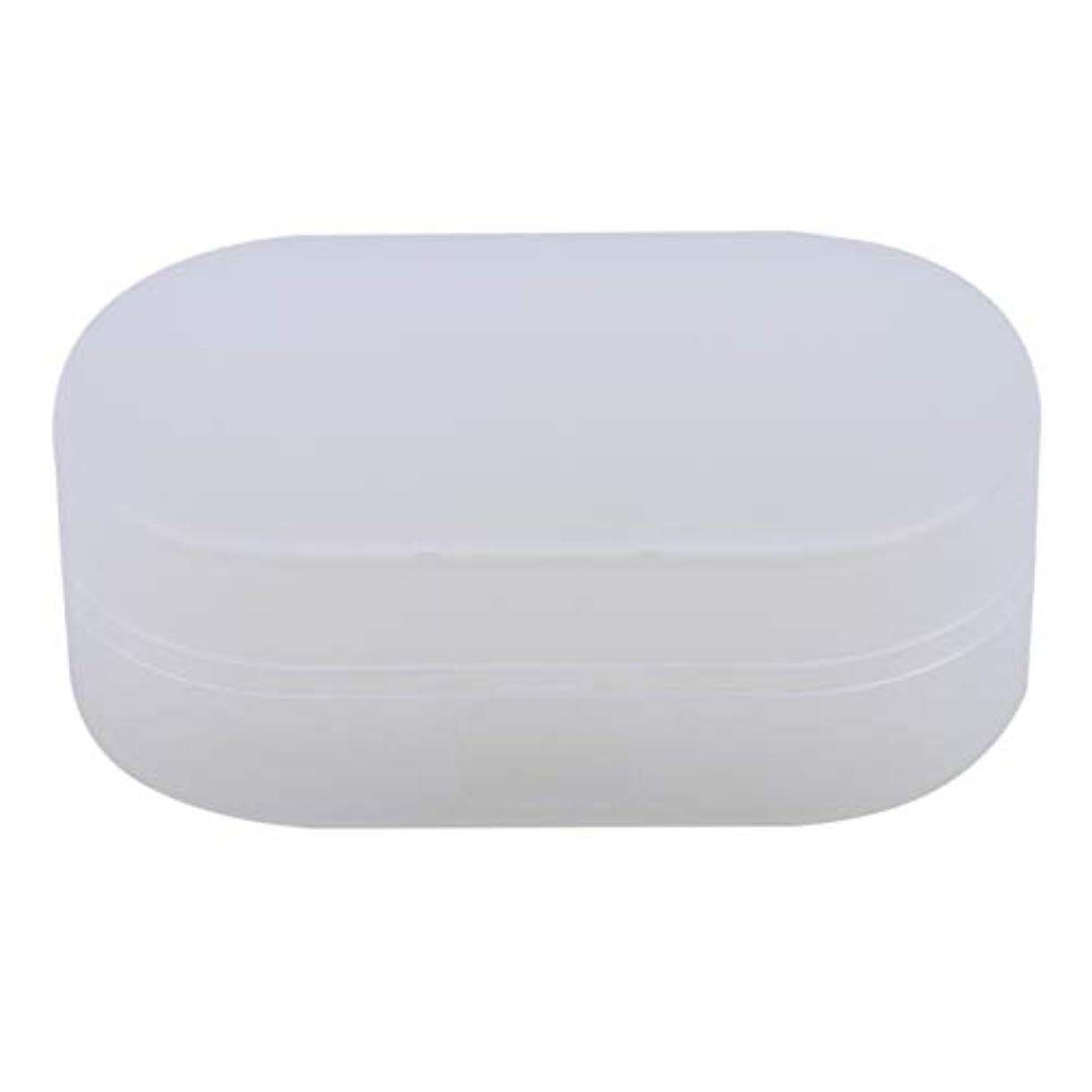 温度端ビールZALINGソープボックスホルダーソープディッシュソープセーバーケースコンテナ用バスルームキャンプホワイト