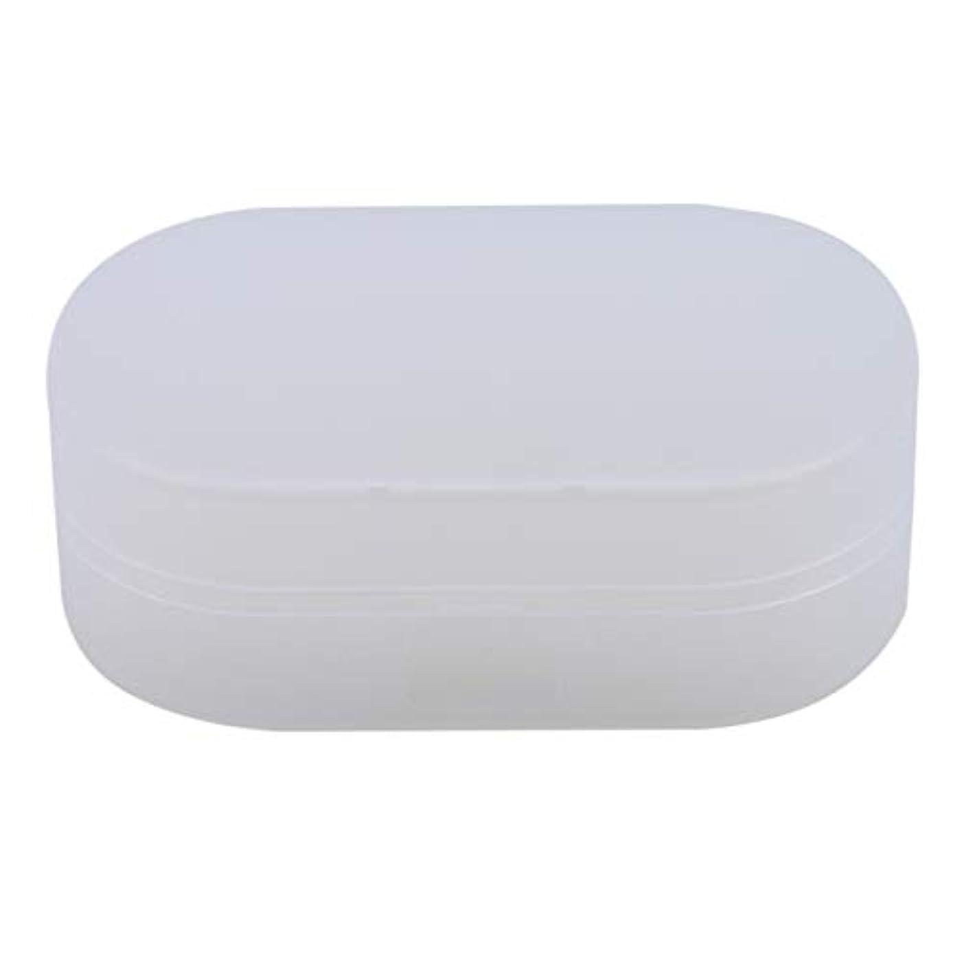 リップ摂動道を作るZALINGソープボックスホルダーソープディッシュソープセーバーケースコンテナ用バスルームキャンプホワイト
