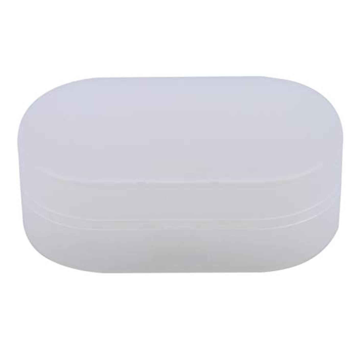 正確さ庭園支出ZALINGソープボックスホルダーソープディッシュソープセーバーケースコンテナ用バスルームキャンプホワイト
