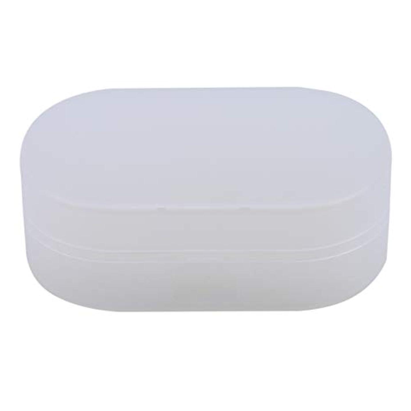 夢俳句先ZALINGソープボックスホルダーソープディッシュソープセーバーケースコンテナ用バスルームキャンプホワイト