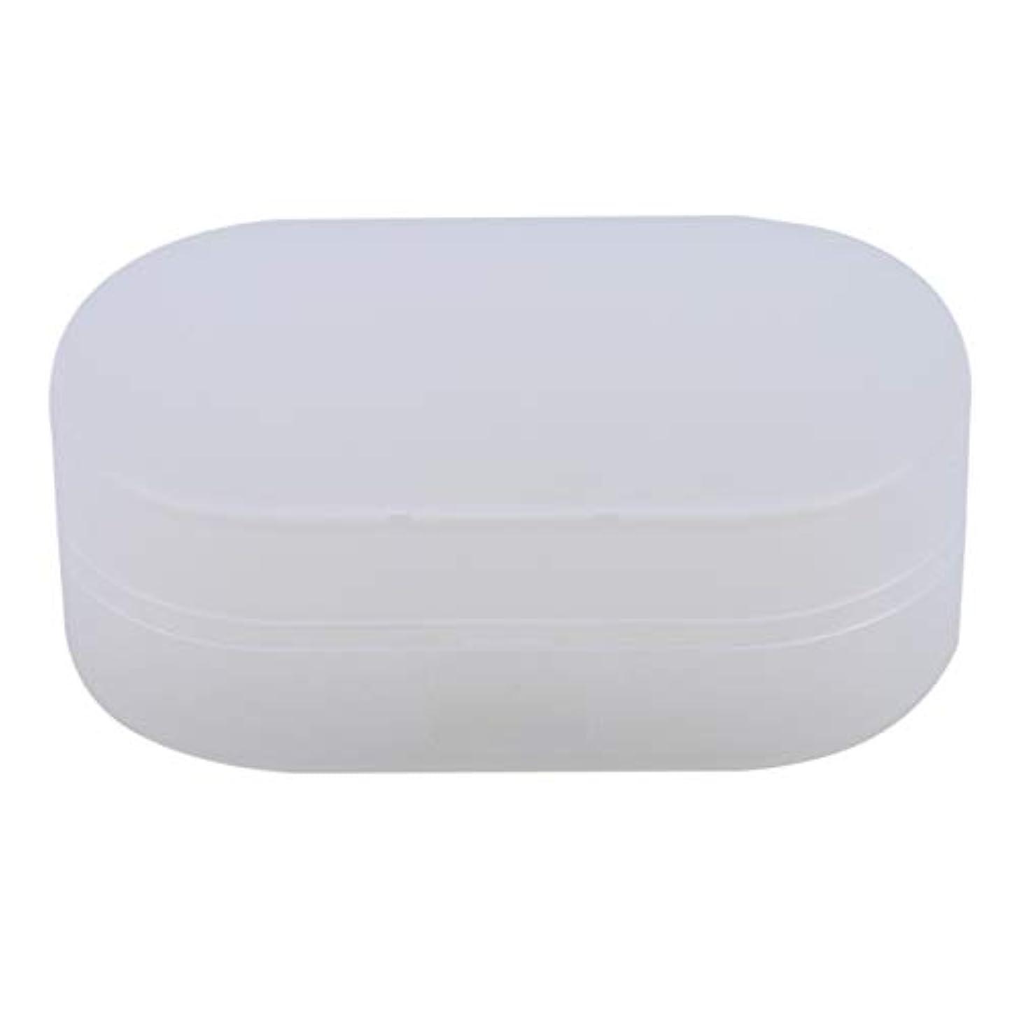 休暇国民フェンスZALINGソープボックスホルダーソープディッシュソープセーバーケースコンテナ用バスルームキャンプホワイト