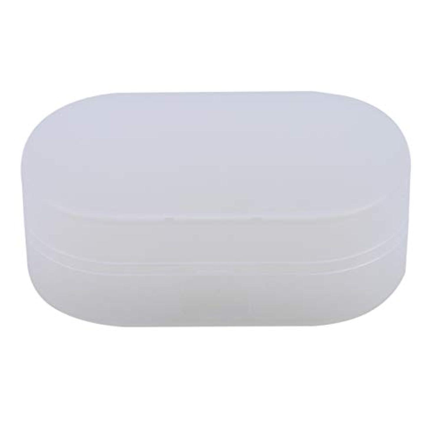 避けられないジョグ幹ZALINGソープボックスホルダーソープディッシュソープセーバーケースコンテナ用バスルームキャンプホワイト