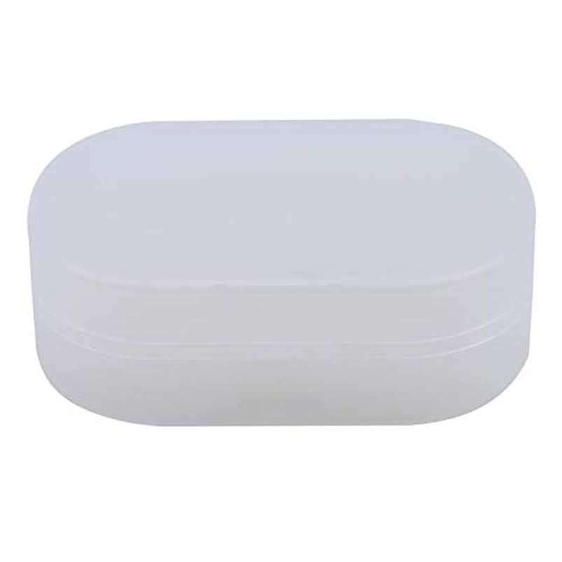 ZALINGソープボックスホルダーソープディッシュソープセーバーケースコンテナ用バスルームキャンプホワイト