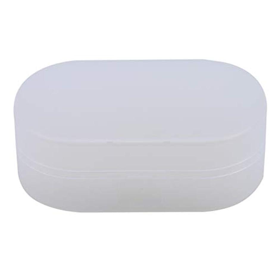 騒ハント花弁ZALINGソープボックスホルダーソープディッシュソープセーバーケースコンテナ用バスルームキャンプホワイト