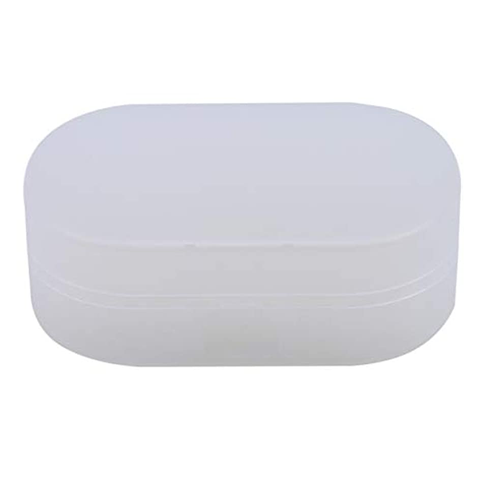 一般的な大理石担当者ZALINGソープボックスホルダーソープディッシュソープセーバーケースコンテナ用バスルームキャンプホワイト