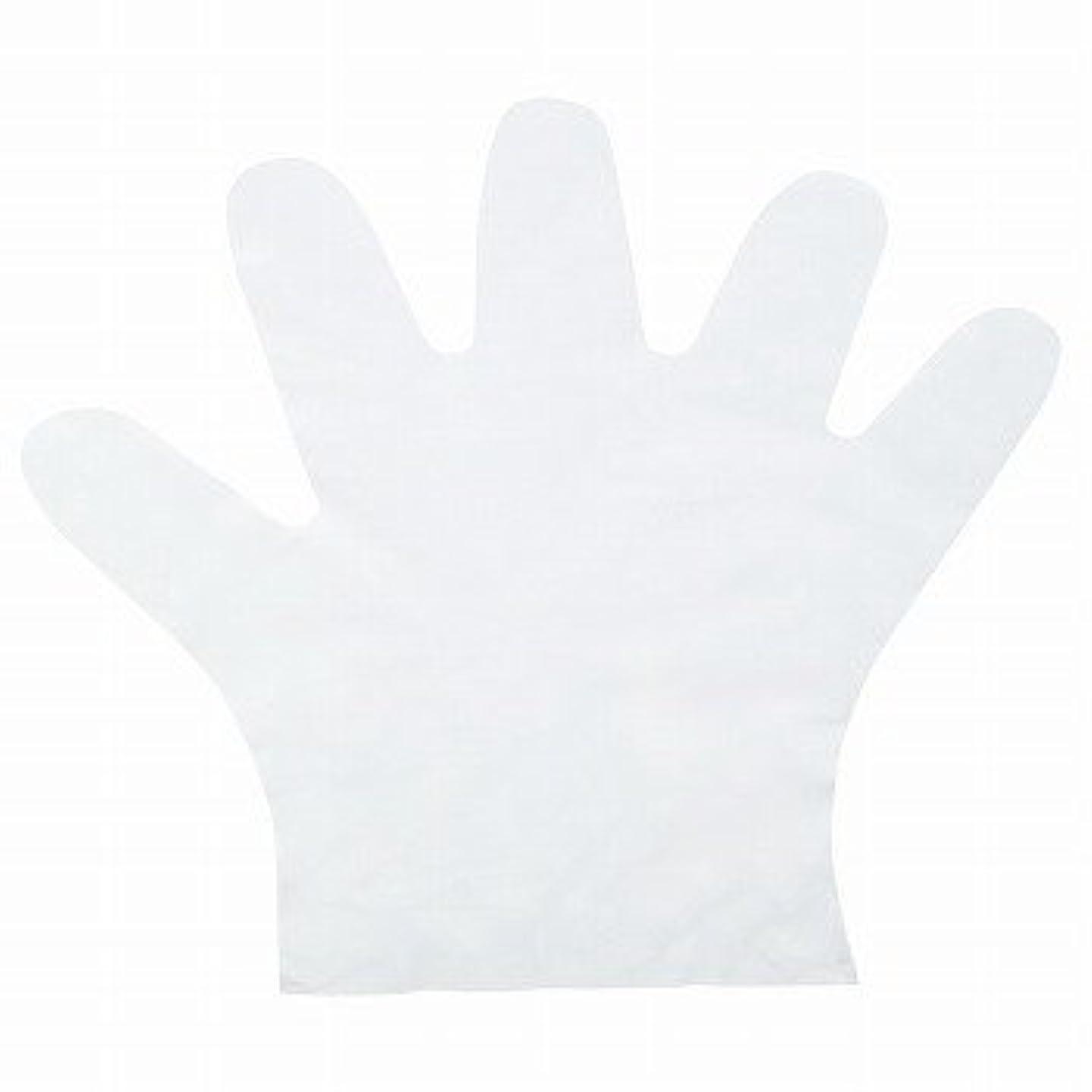 ぐるぐるマニフェスト隔離おたふく手袋/ポリエチディスポ(LD) 100枚入×50セット[総数5000枚]/品番:248 サイズ:L