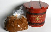 谷風味噌4Kg赤樽(粒味噌)