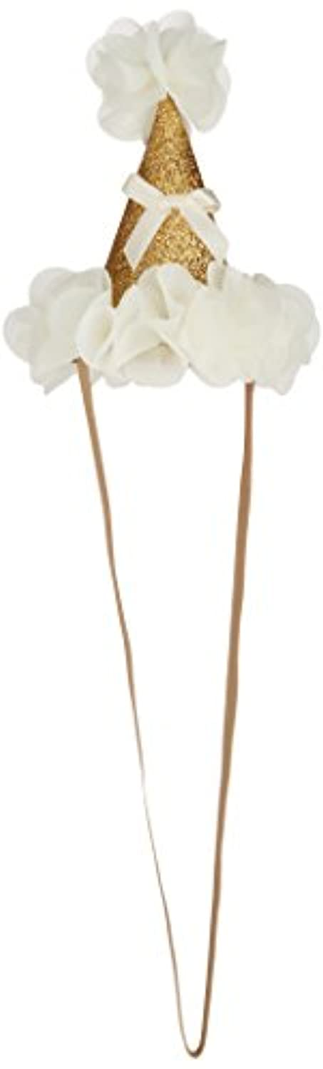 MANDY Party Hat Gold and Ivory