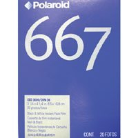 Polaroid(R) 667 白黒フィルム 2枚パック