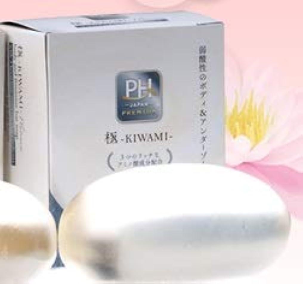 池好み目立つ弱酸性アミノ酸 透明固形石けん 極-KIWAMI-プラチナ