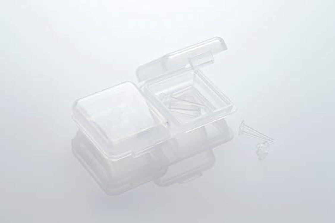 各石鹸観察[ワンダーワークス] WONDERWORKS 医療用樹脂製 シークレットピアス リメイン 金属アレルギーフリー 2ペア W20006
