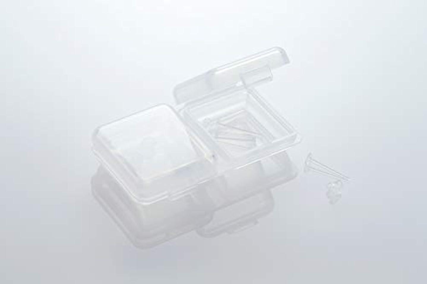 民間人没頭する捨てる[ワンダーワークス] WONDERWORKS 医療用樹脂製 シークレットピアス リメイン 金属アレルギーフリー 2ペア W20006