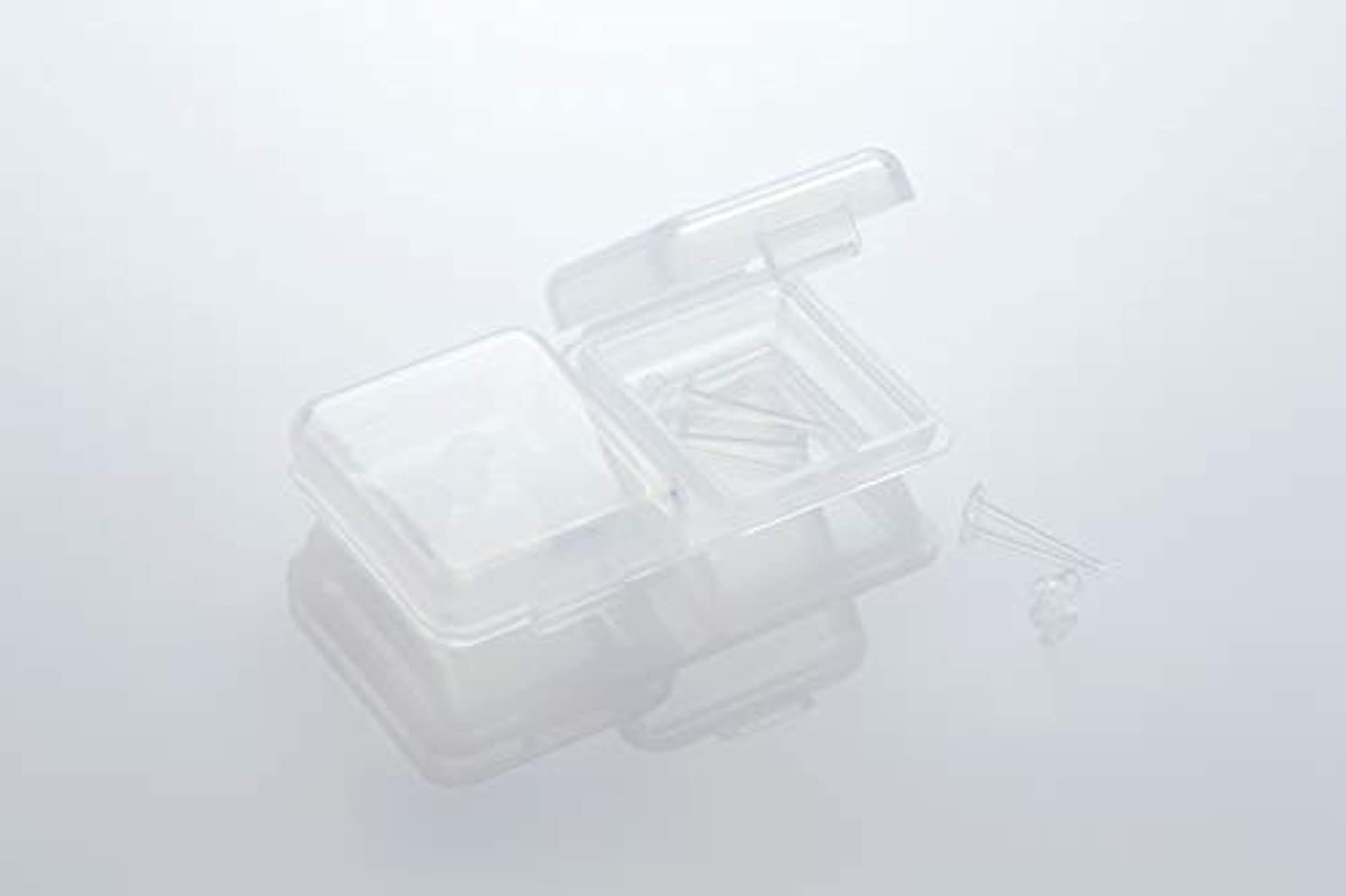 [ワンダーワークス] WONDERWORKS 医療用樹脂製 シークレットピアス リメイン 金属アレルギーフリー 2ペア W20006