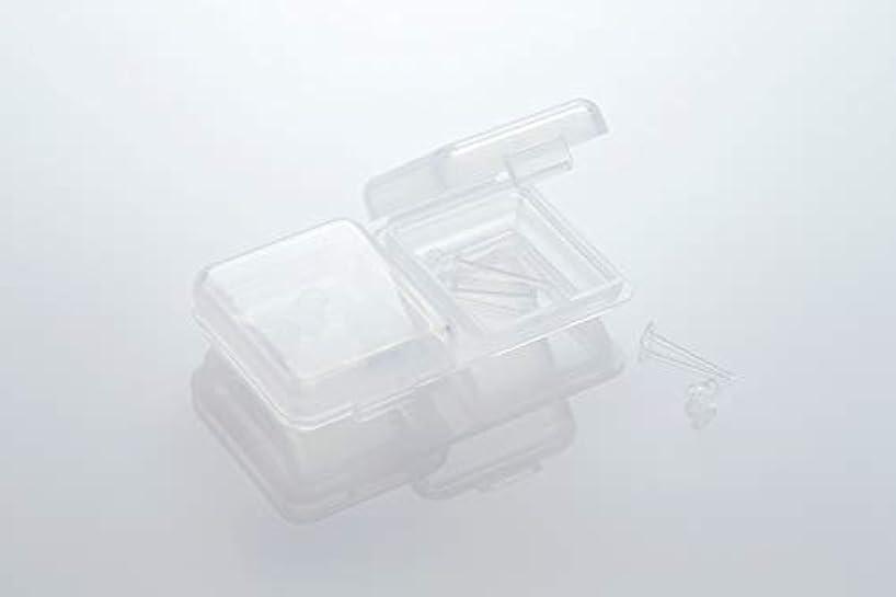 火フリルファウル[ワンダーワークス] WONDERWORKS 医療用樹脂製 シークレットピアス リメイン 金属アレルギーフリー 2ペア W20006