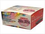 リサイクルインク CANON キャノン BCI-350XLPGBK ブラック大容量 純国産ブランド ReJet/リ・ジェット (大容量5色セット+ブラック大容量)