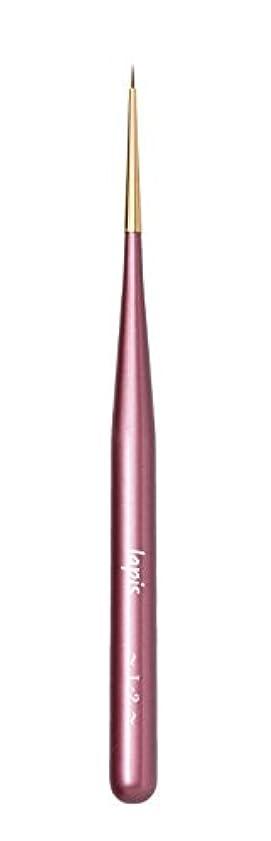 研究所リップ柔らかい【Amazon.co.jp限定】Lapis ジェルネイルブラシ ライナーショート L-2(ピンク)