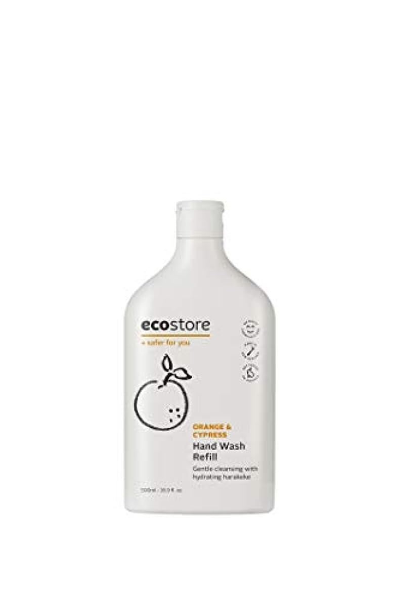 トレード記者継続中ecostore(エコストア) ハンドウォッシュ 【オレンジ&サイプレス】 500mL 詰め替え用 液体タイプ
