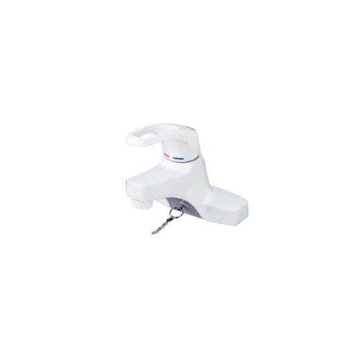 洗面用シングルレバー式混合栓 ゴム栓付 KM7014
