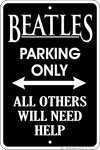 Beatles Parking Tin Sign 8 x 12in by Flagline