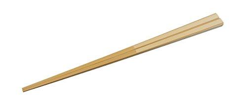 お試し箸 男性用23cm【日本製 無塗装 薬品不使用 食洗機対応】 竹だけで作ったすべらないお箸 『面と角で挟...