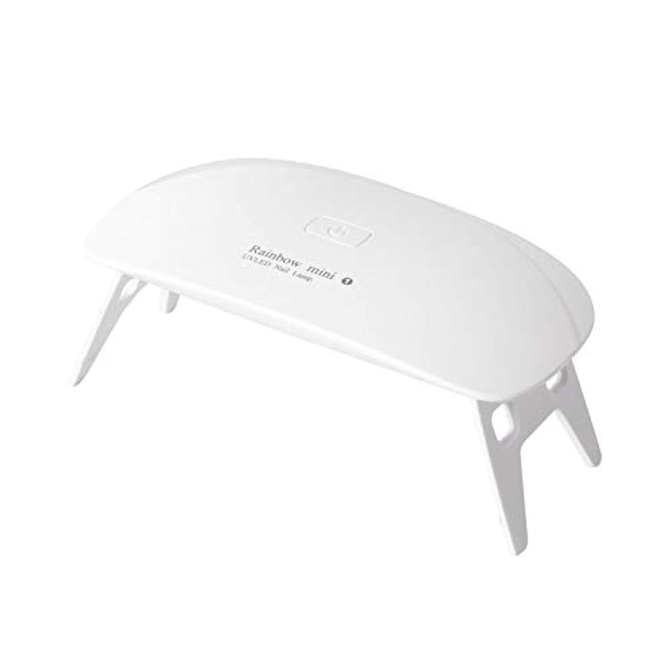 アラスカアイロニースタイルLEDネイルドライヤーAmoVee UVライト 硬化ライト タイマー設定可能 UV と LEDダブルライト 折りたたみ式 ジェルネイル用 携帯用 ホワイト