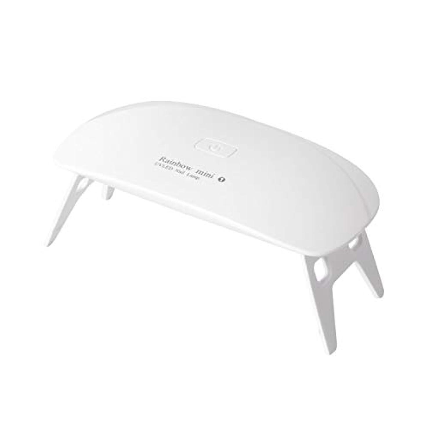 ビバ変わるエスニックLEDネイルドライヤー AmoVee UVライト 硬化用UVライト タイマー設定可能 折りたたみ式 ジェルネイル用 ホワイト