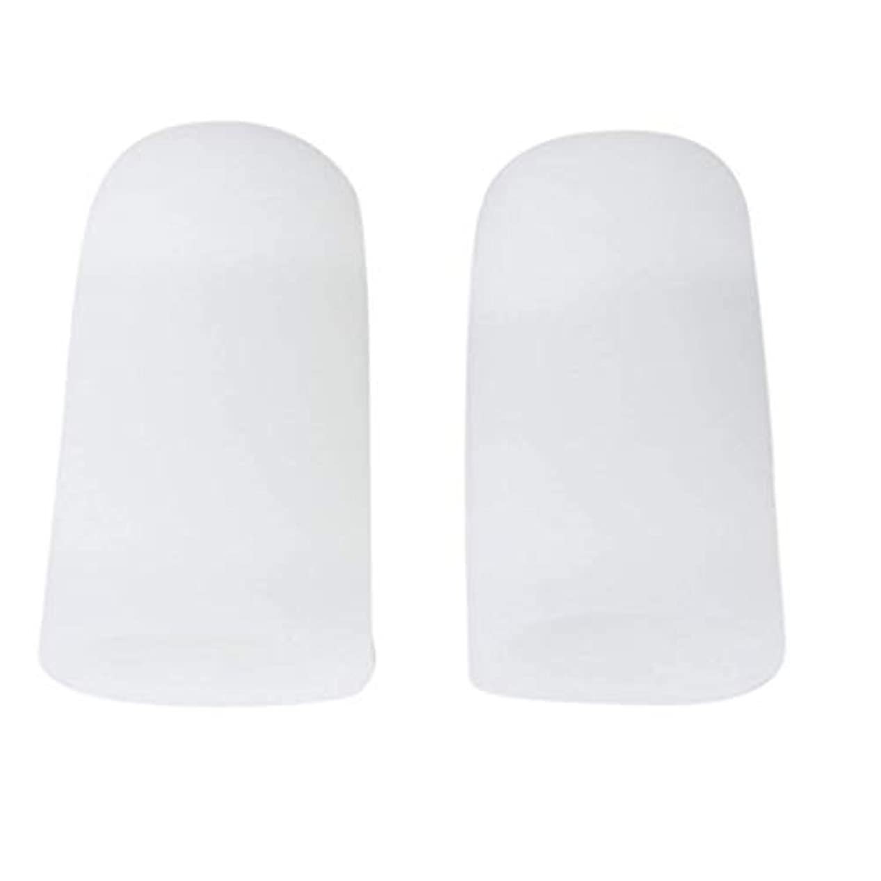 略語解放鋭くTSUCIA 足指保護キャップ つま先プロテクター 足先のつめ保護キャップ シリコン (M)