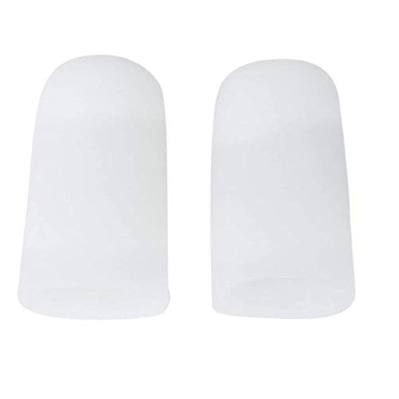 トラフィック葬儀ローストTSUCIA 足指保護キャップ つま先プロテクター 足先のつめ保護キャップ シリコン (M)